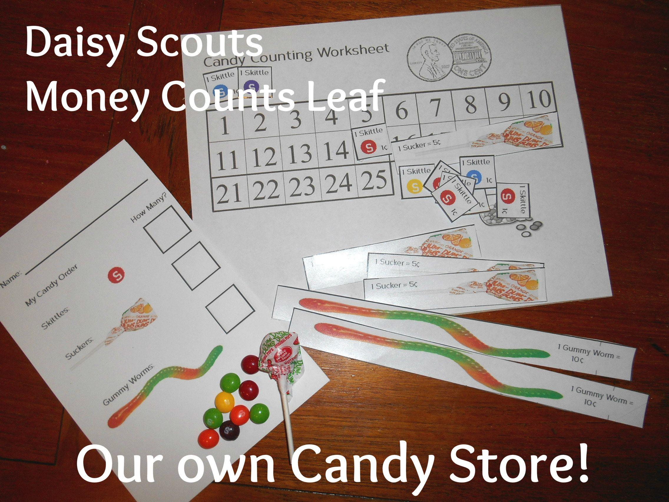 Daisy Scout Money Counts Leaf Petal Activity We Did A