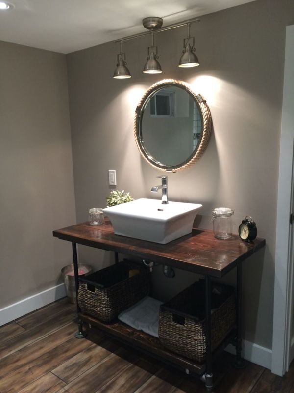 Industrial Pipe Bathroom Vanity