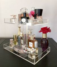 Perfume Storage Holder 2 Tiers Clear Acrylic Makeup ...