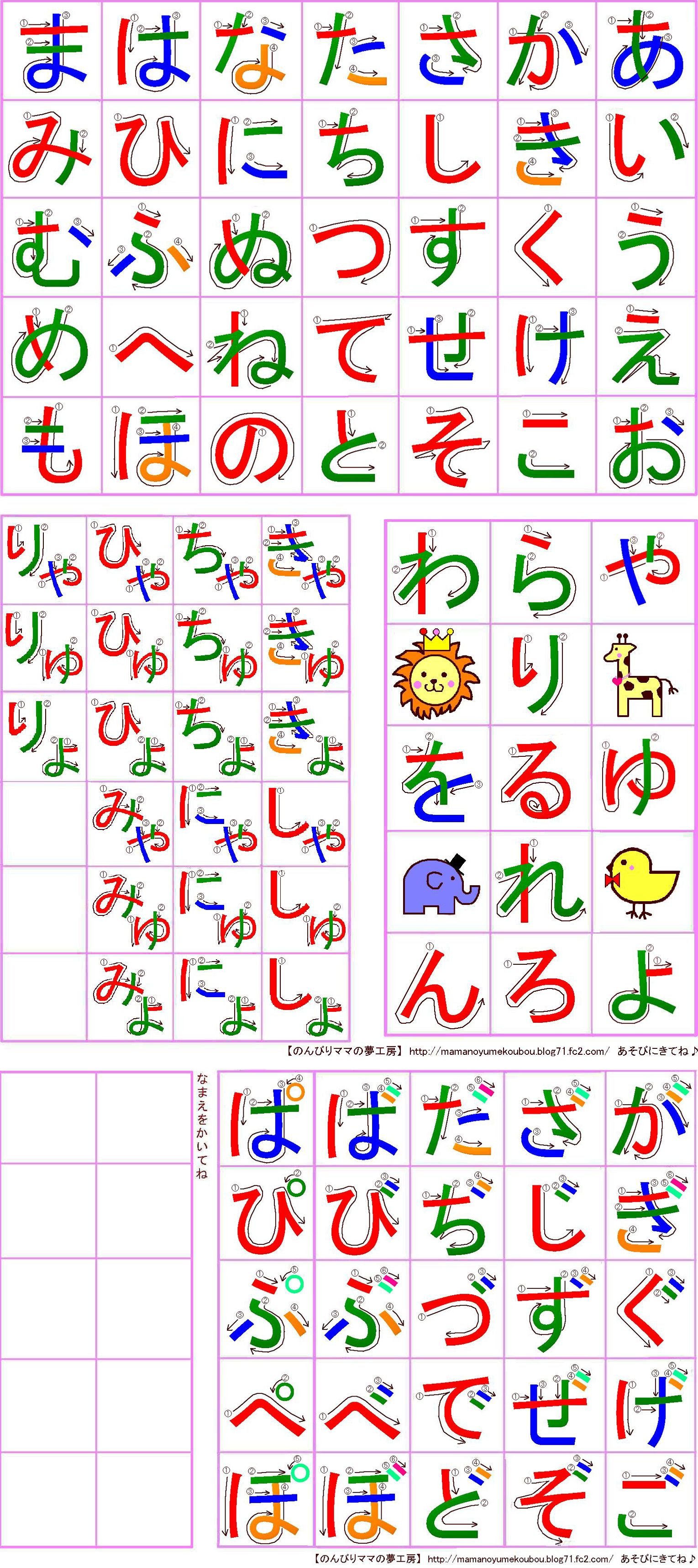 27 Hiragana Charts Stroke Order Practice Mnemonics And More
