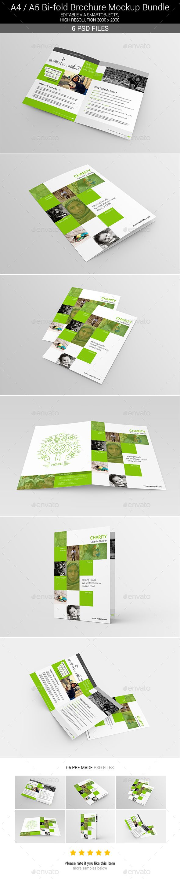 Bi-Fold Brochure Mockups By Shrdesign Hello Everyone Greetings. Presenting  Bi-Fold Brochure Mockups,this Mockup Is Best For Your Bi-Fold And Designs.