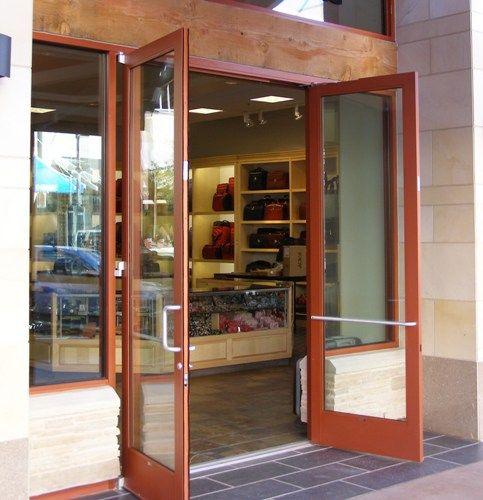 double exterior commercial glass doors   Doors Storefront Glass Herculite Doors