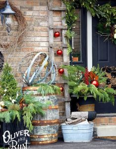 Oliver and rust christmas house tour part the outdoors also  rh pinterest