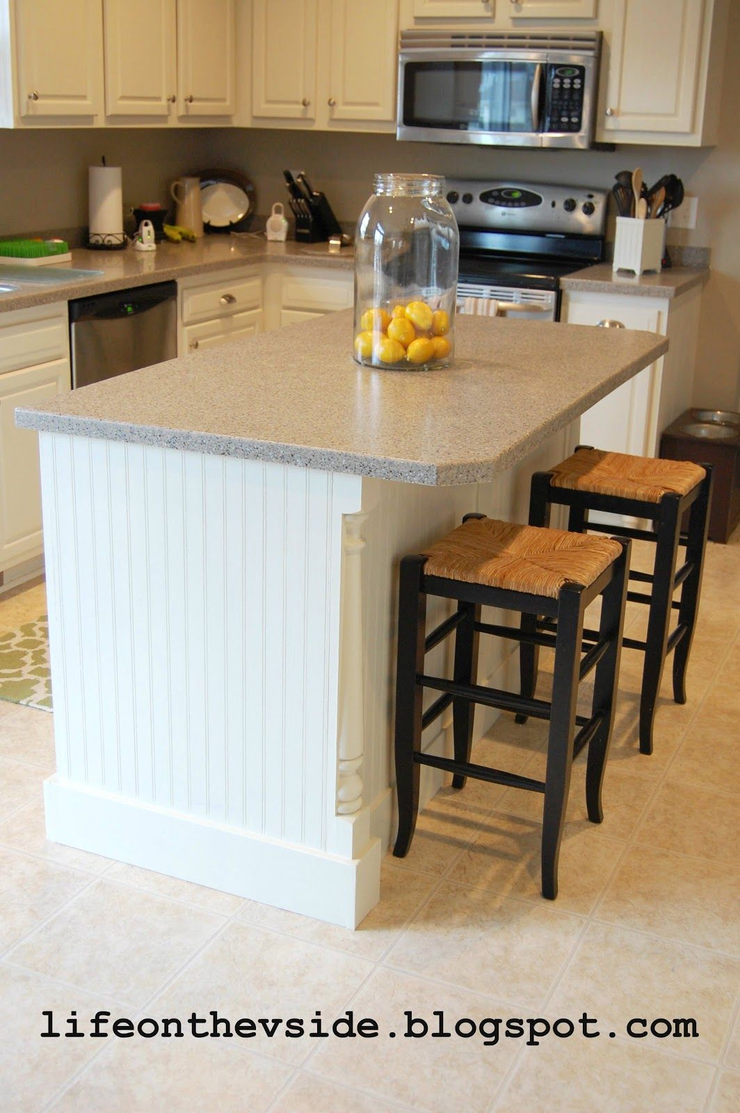 kitchen update ideas narrow island with seating diy tutorial lifeonthevside