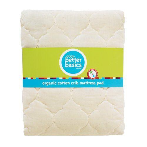 Giggle Better Basics Waterproof Crib Mattress Pad Organic