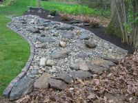 dry river bed landscaping pictures | Decorative landscape ...