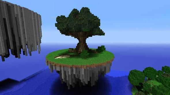Minecraft Floating Tree House Google Search Minecraft