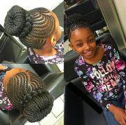 updo scalp braids &