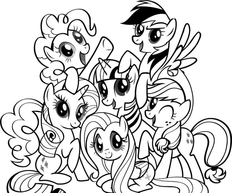 my little pony free coloring | free printable my little pony