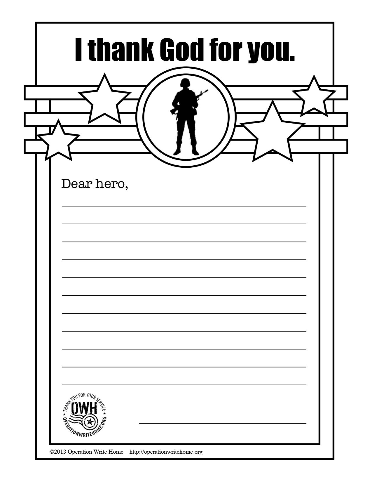 Operation Write Home Thankgodc