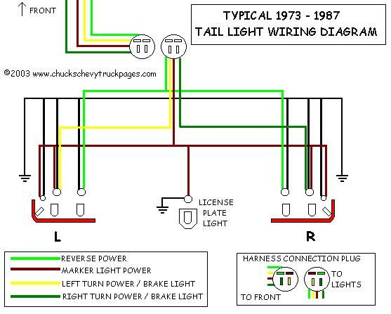 truck lite led wiring diagram hunter ceiling fan light switch toyota tail all data 1994 pickup block 1973 camaro