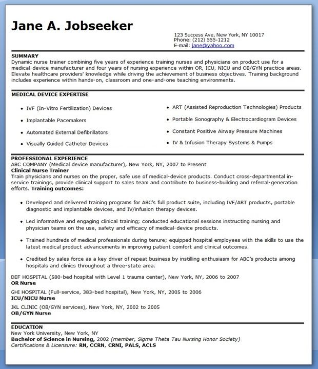 Sample Nurse Educator Resume Nurse Educator Resume Nurse Educator