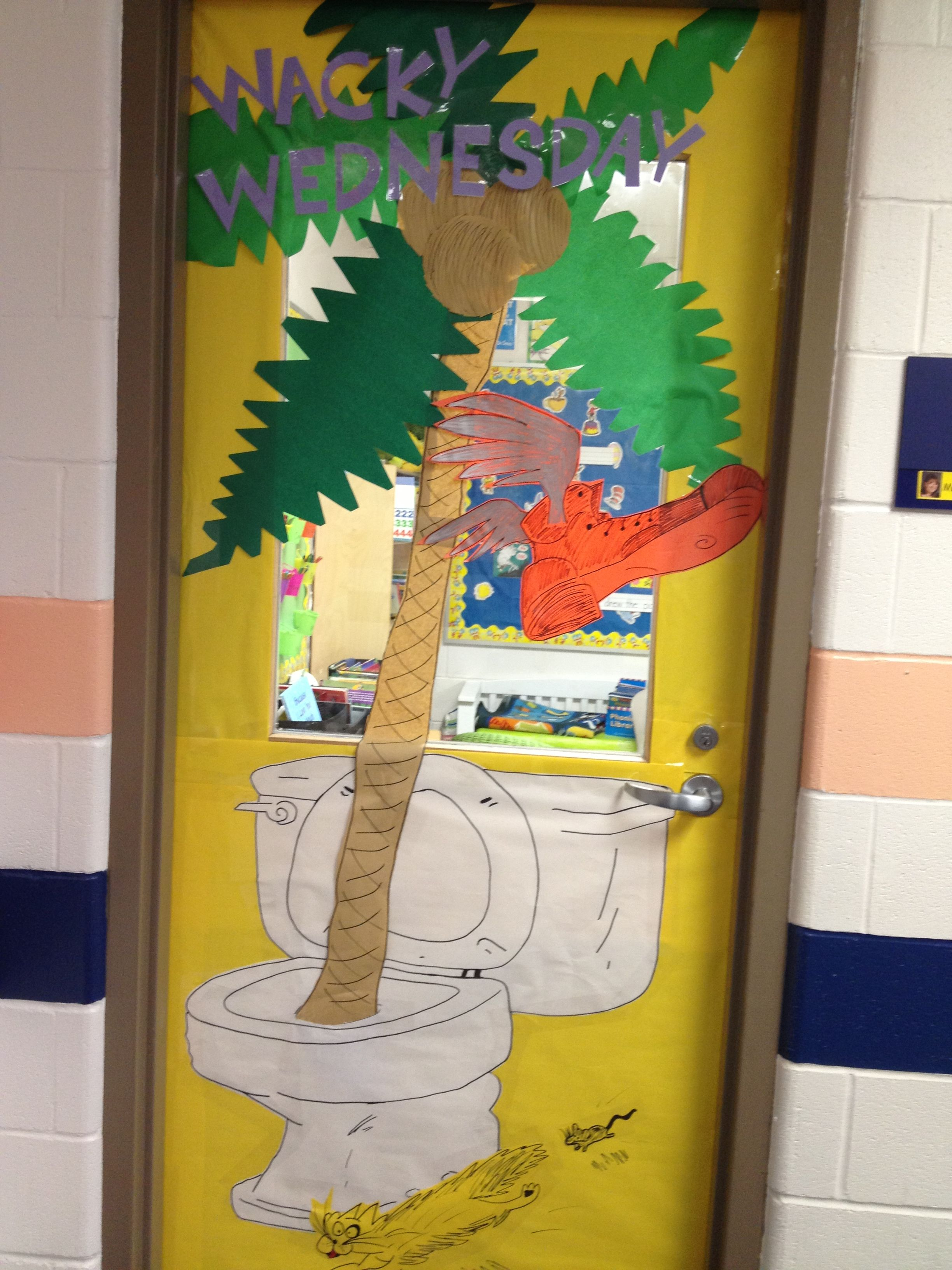 Wacky Wednesday Door Design For Our Dr Seuss Door Contest At School Dancamacho Design
