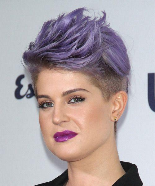 Kelly Osbourne Hairstyle Short Straight Formal Purple