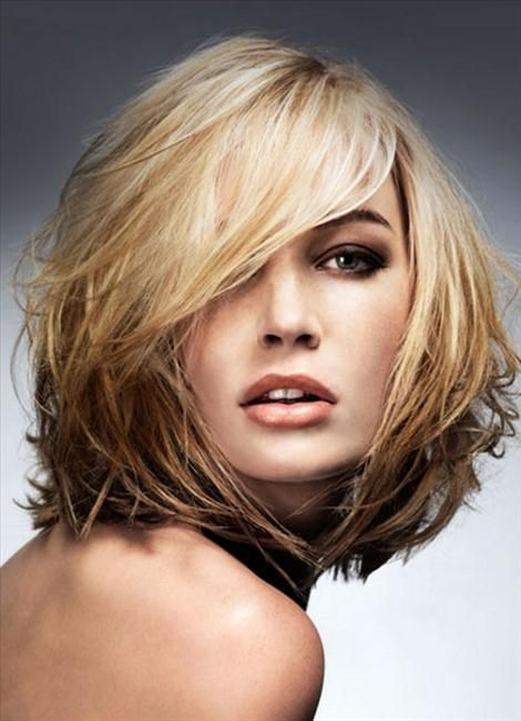 Medium Hair Cuts For Fine Hair Round Face Medium Haircuts