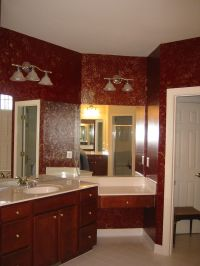 elegant burgundy bathroom | Beautiful Bathrooms ...