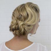 romantic updo hair and makeup