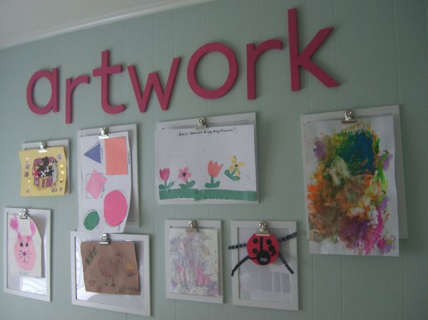 Kids Art Work Wall Display Ideas