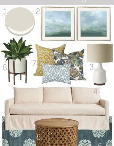 Mood board teal neutral living room  sarah designs also rh pinterest