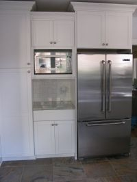Microwave in upper cabinet | Kitchen wall removal/remodel ...