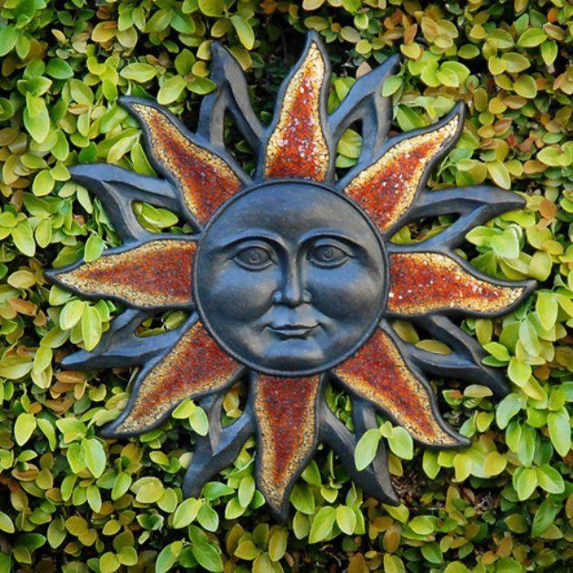 Outdoor wall art sun face design also sunburst atomic pinterest rh