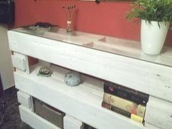 Mueble recibidor hecho con palets Venute  Nekodecorcom