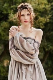 celtic style dress and hairstyle