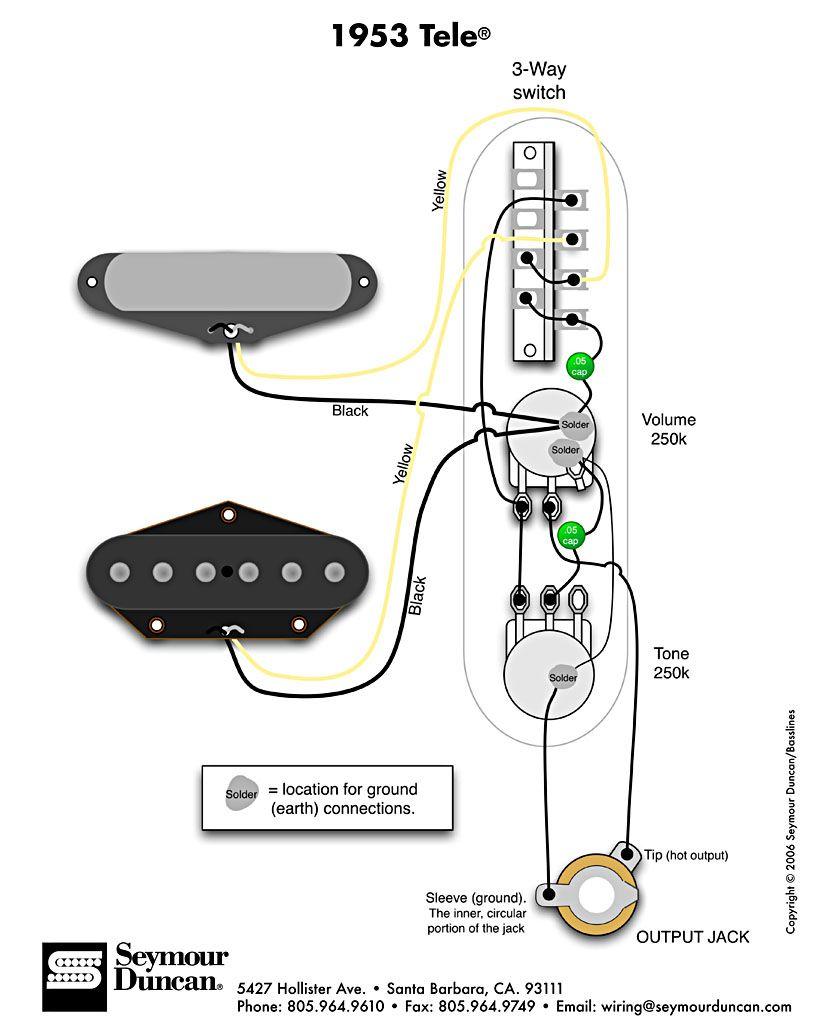 gfs wiring diagram john deere gator power wheels 1953 tele (seymour duncan) | telecaster build pinterest guitars and guitar ...