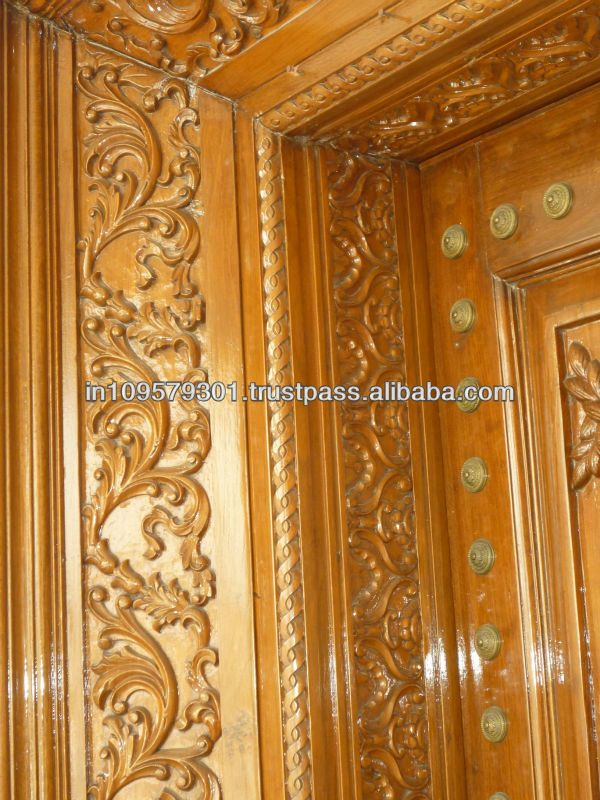 Main Entrance Solid Wood hand carved Double Door, View