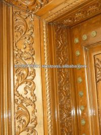 Main Entrance Solid Wood hand carved Double Door, View ...