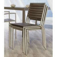 The Niko Outdoor Side Chair is a cool contemporary outdoor ...