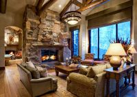 Mountain home living room chandelier | Paula Berg Design ...
