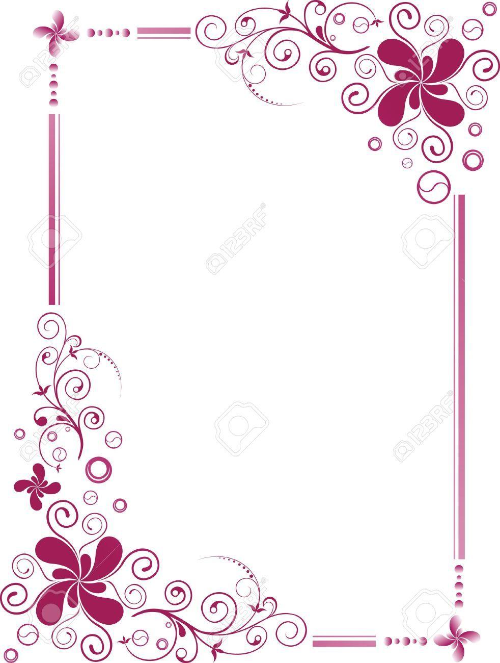 Cute Designs Printer Page Wallpapers 3492047 Floral Design Border Frame Stock Vector Wedding