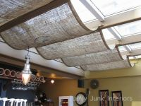 Ideas For Basement, Burlap Wall Covering, Burlap Curtains ...
