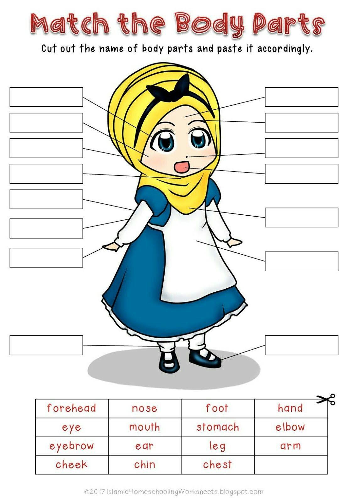 Match The Body Parts In Free Disney Princess Preschool