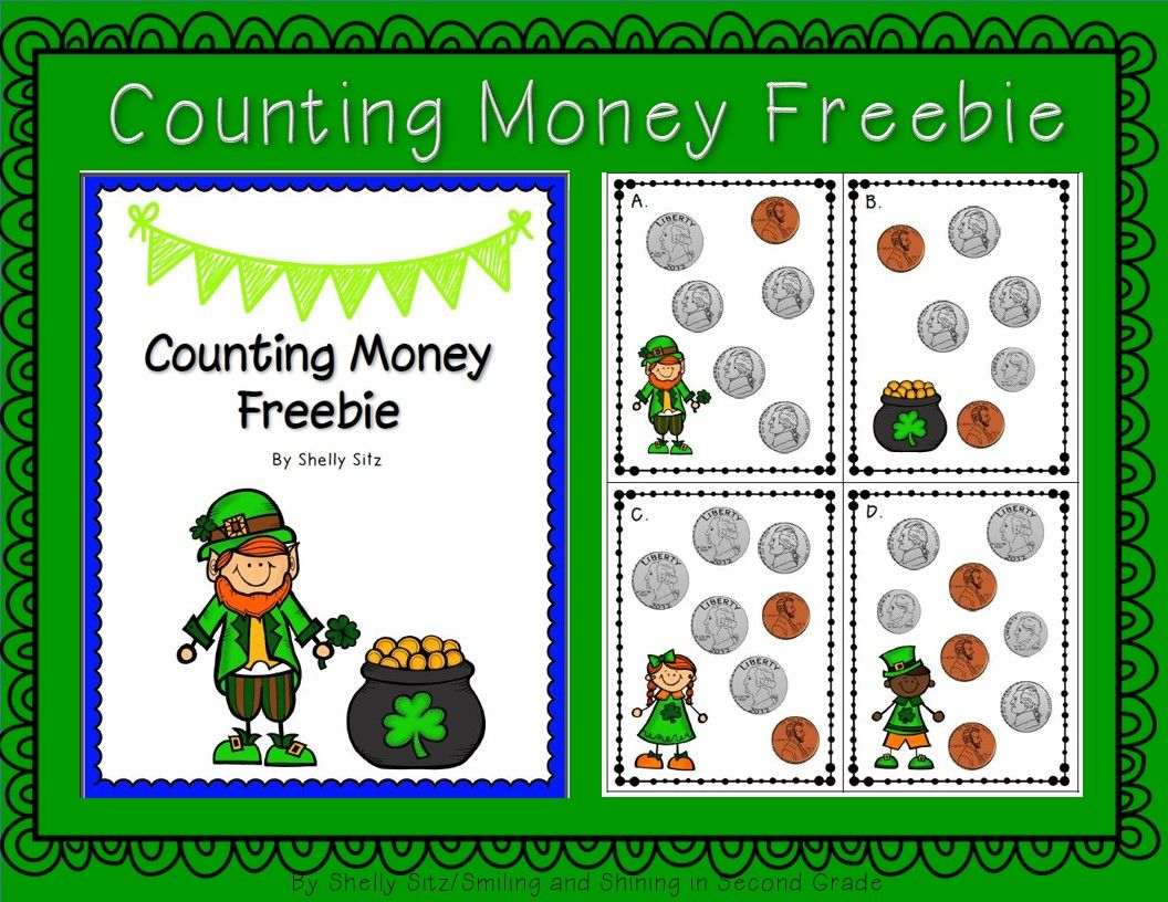 Free St Patrick S Day Counting Money Center 2 8 Solve Word Problems Involving Dollar Bills