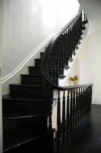 Black Painted Stairs on Pinterest   Black Stairs, Black ...