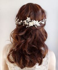 bridal hair vine bridal hair piece wedding by thehoneycomb