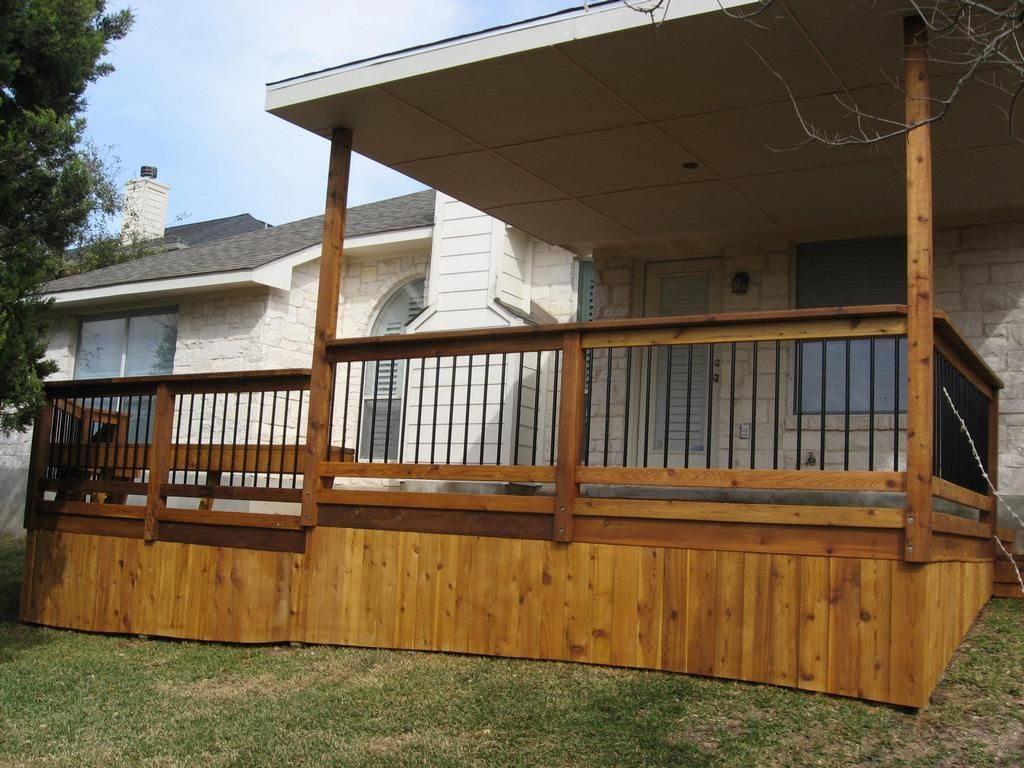 Covered Wood Deck On Mobile Home Home Pinterest Deck
