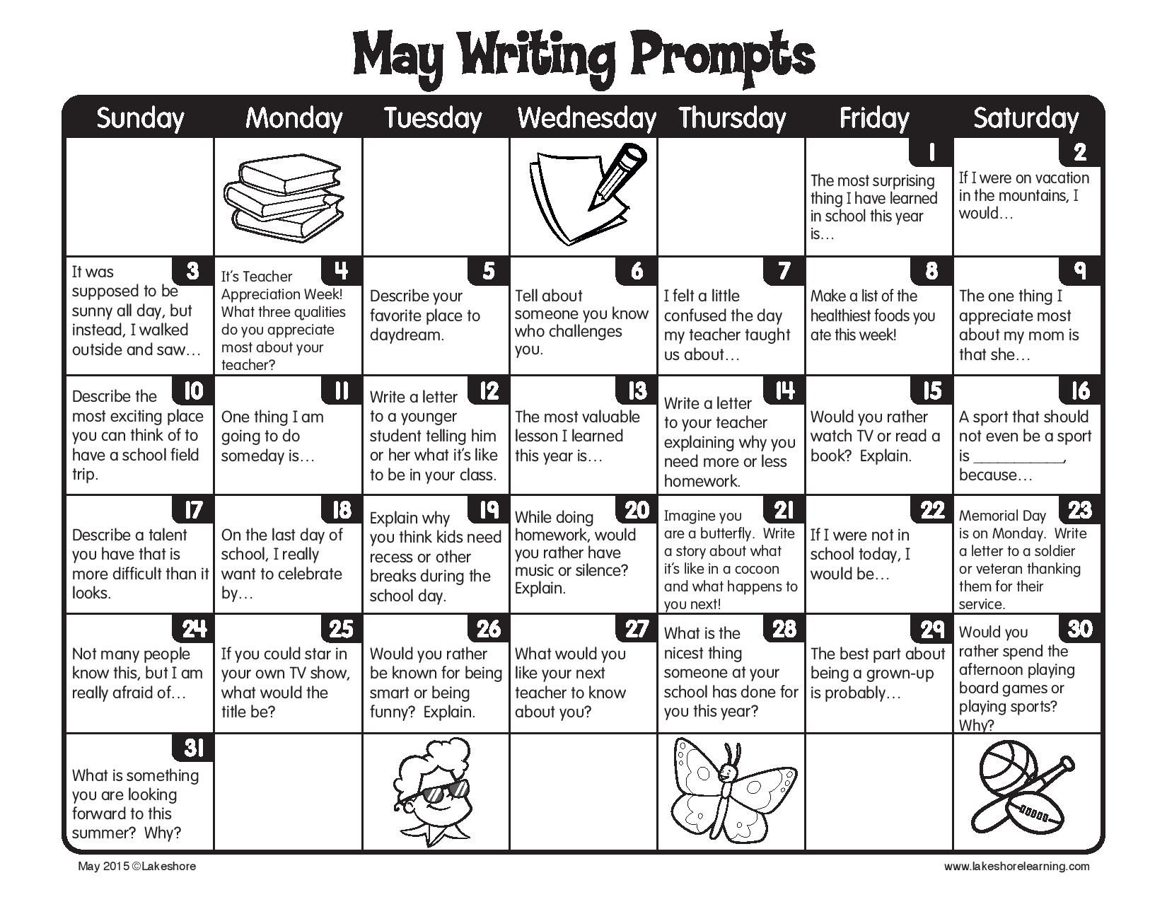 Journal Writing Prompts For Third Graders