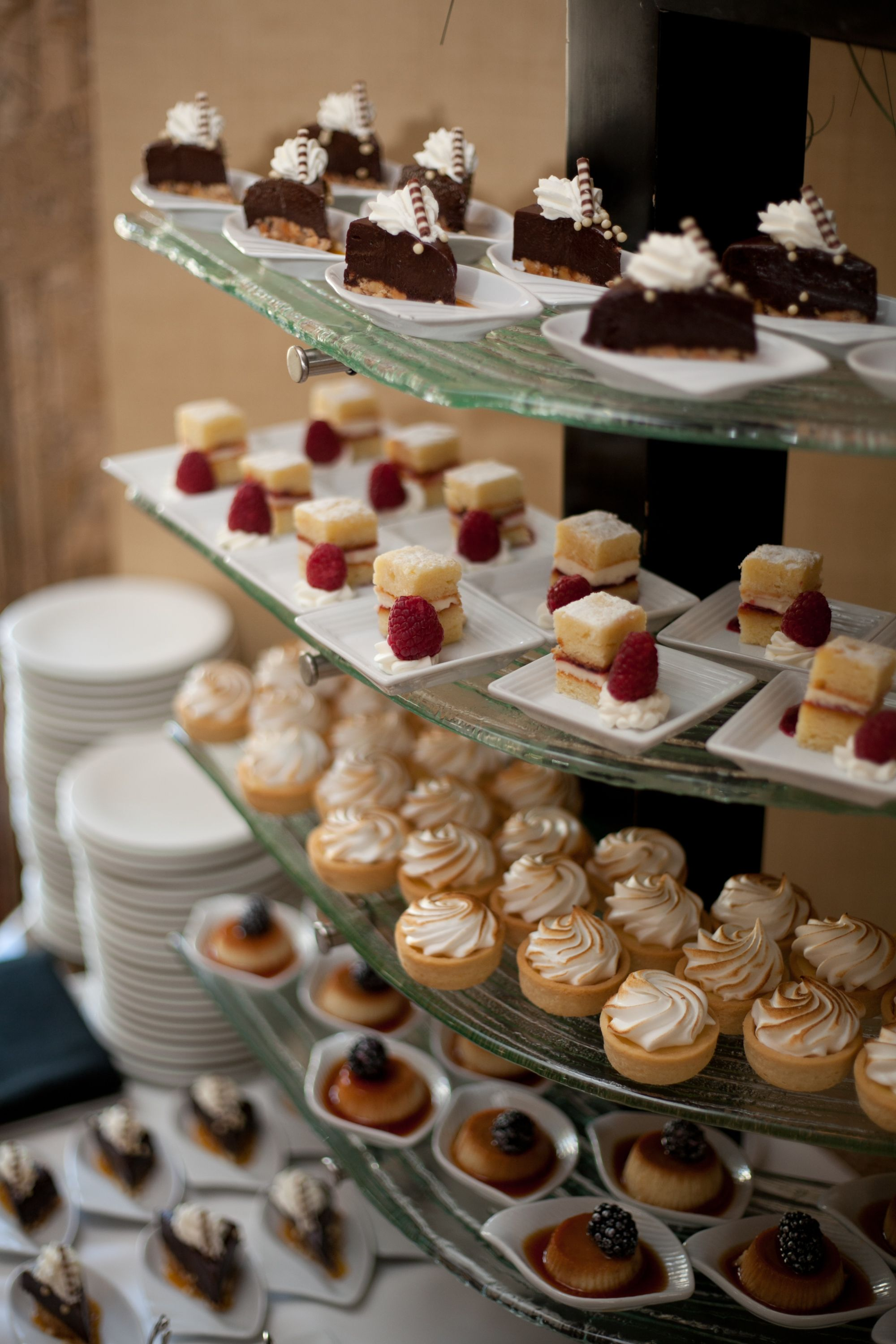 Have A Bite Sized Dessert Display Instead Of A Groom S