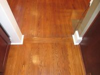 transition between old wood floors and new