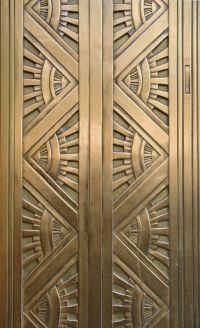 pattern Art Deco Metal Door. Computing & Library Services ...