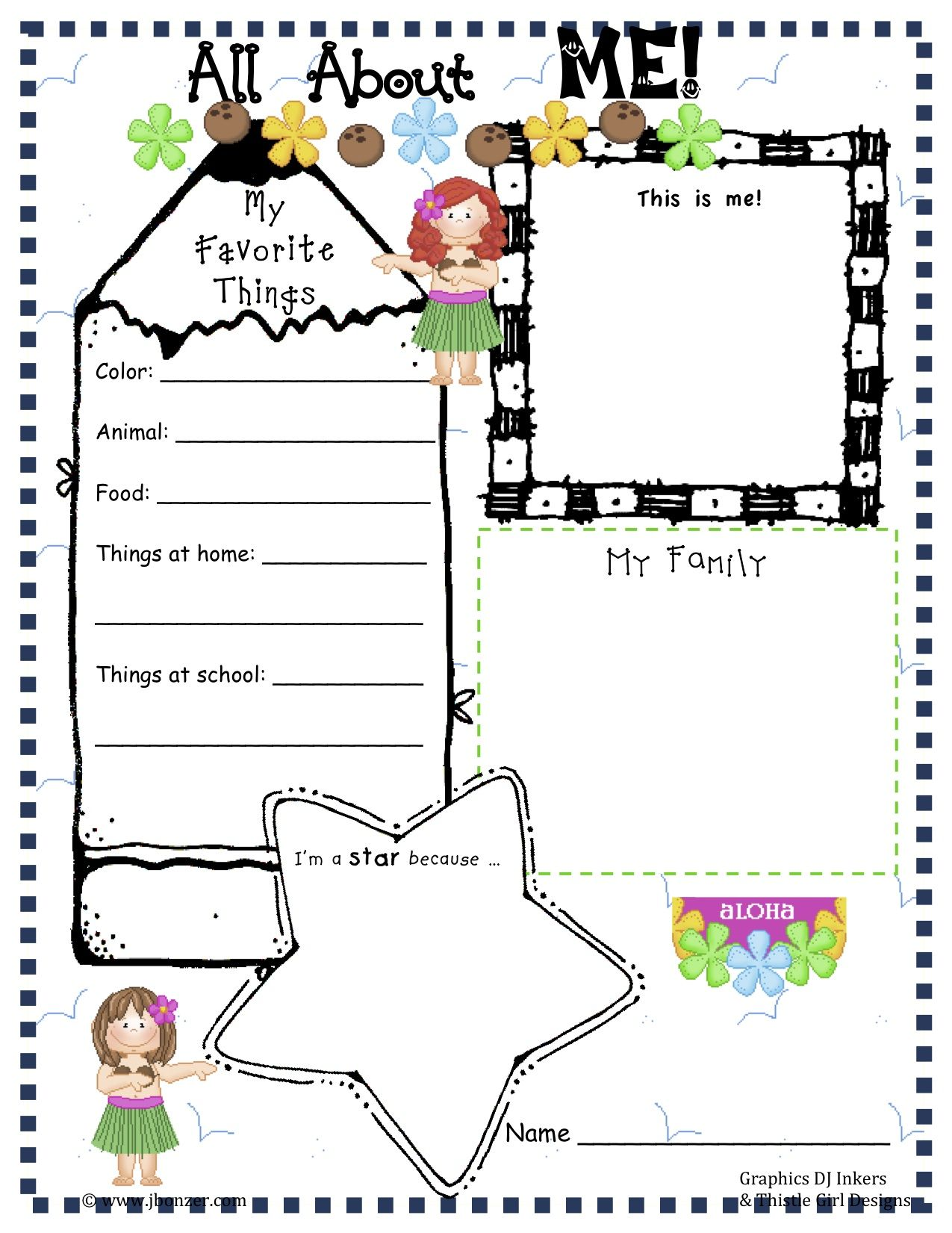 Free Preschool All About Me Worksheets