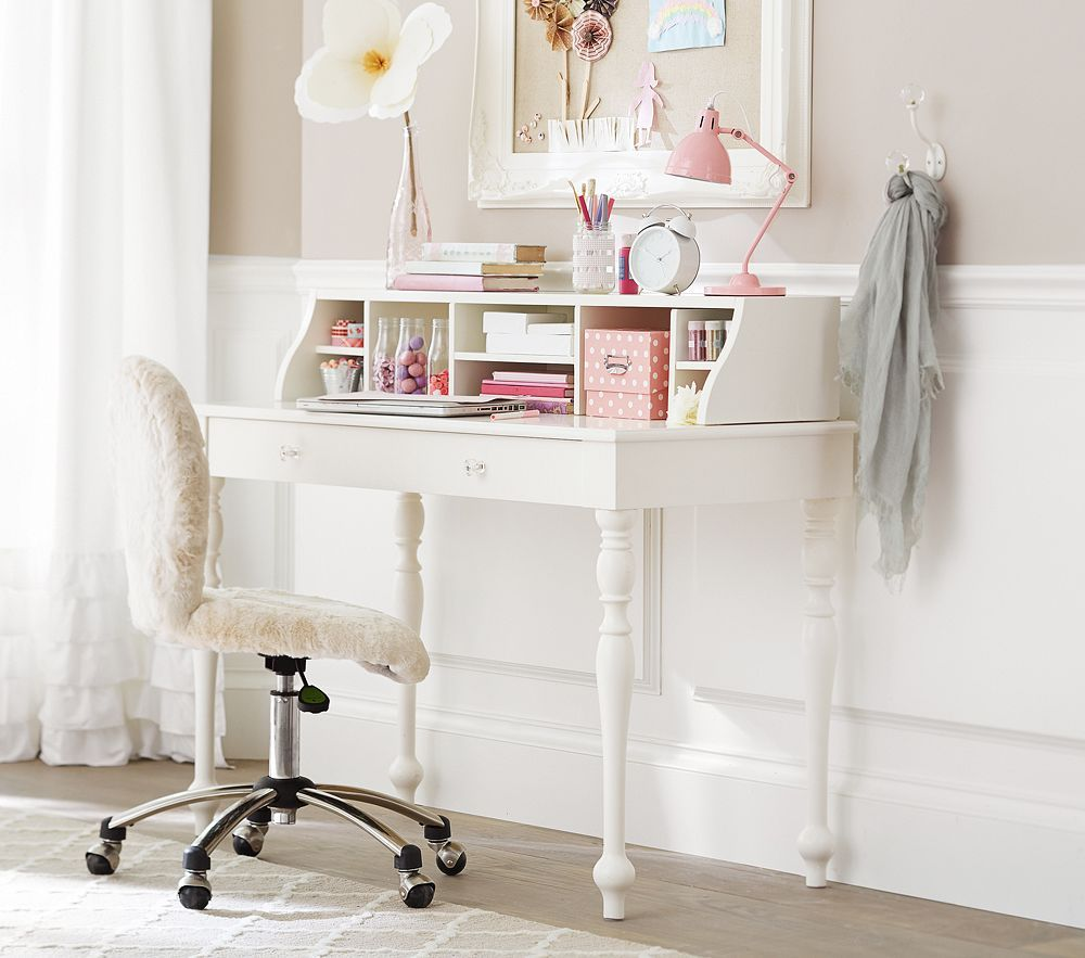 Interesting Ideas For Comfortable Desks With White Wooden