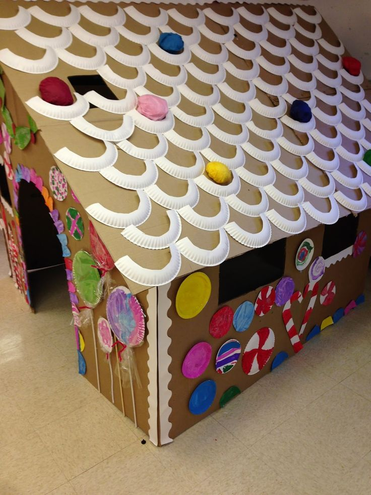 Life Size Gingerbread House A Fun Winter Activity For Kids Using