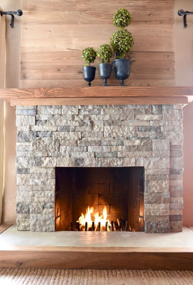Airstone fireplace makeover airstone fireplace airstone