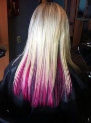awesome bottom hair dyed fun