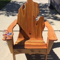 Michigan Adirondack Chair Metal Folding Covers With Cup Holder And Wine Glass