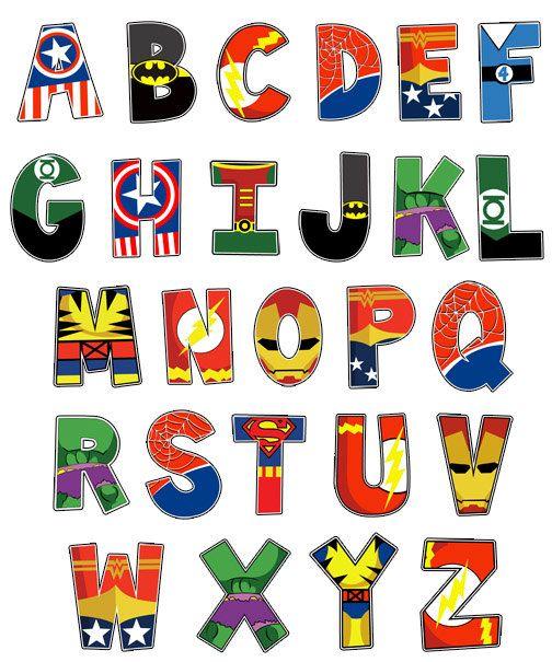 Superhero Alphabet On Pinterest Superhero Classroom
